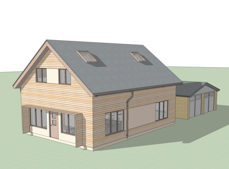 for One and a half storey house plans