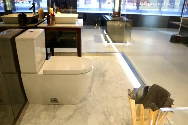 Countertop Dishwasher Bangkok : Italian Arabescato Chiaro Marble on the flooring and basin?s base ...