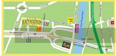 ขาย - Villa Sathorn, 2bed, 2bath, 90sqm, 22nd flr, River View