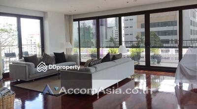 For Rent - Nice Terrace Unique design apartment 4 Bedroom for rent in Sathorn Bangkok Surasak BTS AA12248