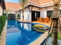 ขาย - บ้านใหม่สวย ชั้นเดียว พร้อมเฟอร์ มีสระว่ายน้ำส่วนตัว ใกล้ทะเล แปลง 101-1