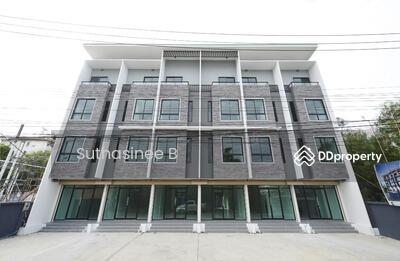 ขาย - อาคารพาณิชย์ 4 ชั้นสร้างใหม่พร้อมอยู่เพดานสูงใกล้รถไฟฟ้าสายสีเหลืองสถานีศรีแบริ่ง