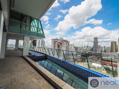 For Sale - A 6 Br duplex bare shell unit with 2 swimming pool for sale at Le Raffine Sukhumvit 31