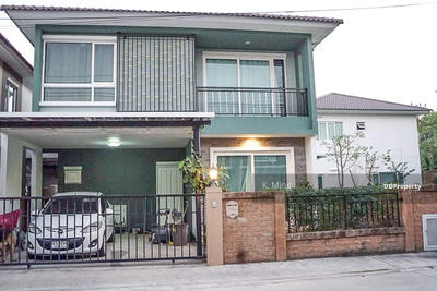 For Sale - For Sale, Twin House 2 Fl. (Detached House Style) Size 36. 4 Sq. m Parking available - Gloden Neo Onnut-Pattanakarn.