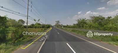 For Sale - E077 ขายที่ดินติดถนน 331 ทางหลวงสัตหีบ-พนมสารคาม อ. เกาะจันทร์  จ. ชลบุรี 25 ไร่กว่า