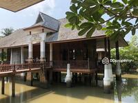 ขาย - บ้านไม้สักทอง กลางสระน้ำ สวย อากาศดี ร่มรื่น อยู่ท่ามกลางธรรมชาติ