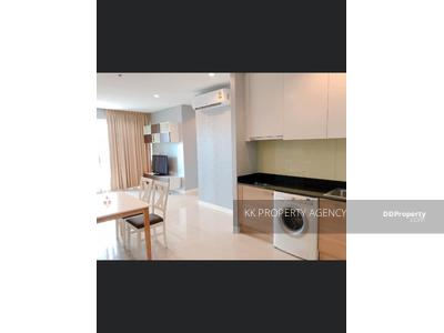 For Rent - CD-622738 Circle1 Condo for rent, near MRT Phetchaburi, 75 sqm, 2 bedrooms, high floor corner room, fully furnished.
