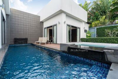For Rent - 2R0198 This pool villa 2bedroom 2bathroom 40, 000/month the house location at Cherng Talay have fully furnished