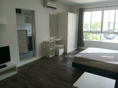 For Rent - Available for rent, D Condo Sukhumvit 109, near BTS Bearing, 600 m. Corner room.