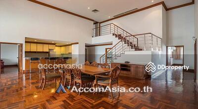ให้เช่า - A fusion of contemporary Apartment 4+1 Bedroom For Rent BTS Phrom Phong in Sukhumvit Bangkok ( 1004601 )