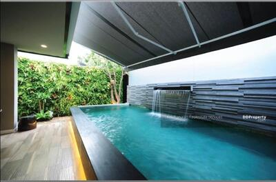 For Sale - Code KRE X563, single house with private swimming pool, Inthamara Soi 9, 3 bedrooms, 5 bathrooms, area of 390 sq m, 3 floors, for sale 45 million baht @LINE: 0962215326 Khun Omelet