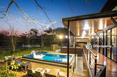 For Sale - Code KRE W1177 Fully furnished house. Phu Phatara Village, 8 bedrooms, 8 bathrooms, area 0-7-0 rai, 2 floors, sell 40 million baht @ LINE: 0962215326 Khun New