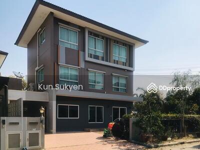 For Sale - ขายบ้านเดี่ยว 3 ชั้น (หลังมุม) คาซ่า วิลล์ ราชพฤกษ์ - แจ้งวัฒนะ 102 ตรว. 5 ห้องนอน ถนนราชพฤกษ์ ต. บางพลับ อ. ปากเกร็ด จ. นนทบุรี  ราคา12, 960, 000 บาท