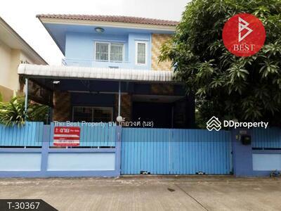 For Sale - ขายถูกบ้านแฝดสไตล์บ้านเดี่ยว 2 ชั้น หมู่บ้านลภาวัน18 ปากเกร็ด นนทบุรี ต่อเติมเต็ม