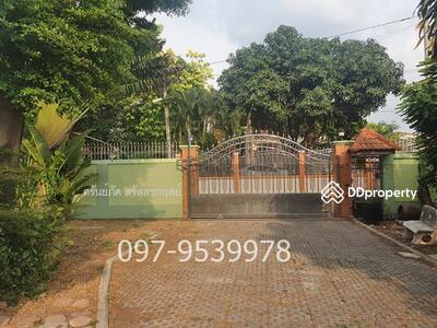For Sale - Land with houses, area 400 square wa, Soi Bypass, Non Buri 11, Nonthaburi Province 20 million (50, 000 - / square wa) already filled near Central Plaza Rattanathibet , MRT Station Nonthaburi