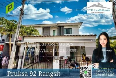ขาย - ขาย หมู่บ้านพฤกษา92  ถ. รังสิต-นครนายก (หลังมุม)  Listing no: YT016-816