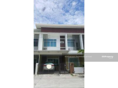 For Rent - Notify the KRE-B412 Townhome with furniture near Burapha University, Bangsaen, Chonburi, 3 bedrooms, 3 bathrooms, use 90+ sq. m. , 2 floors, rent 15, 000 baht @line: 0807811871 Khun On