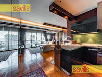 For Sale - Sathorn Gardens for Sale 2 Bedrooms with Corner unit , Fully Furnished , New Luxury Decoration with Warm Modern Design , Ready to Move In , Located on Sathorn Tai road , Closed MRT Lumpini  (Ref id. 055825)