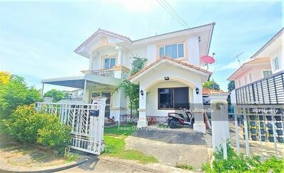 For Sale - House for sale, Pruksa Village 8, Watcharaphon Soi 70, Sukhaphiban 5 Road, special with a corner plot of land