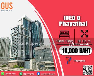 ให้เช่า - พลาดไม่ได้! !! ราคาดีสุดๆ ห้องใหญ่ เฟอร์ครบ พร้อมอยู่ ที่ IDEO Q Phayathai