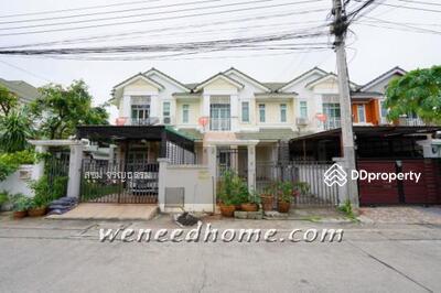 For Sale - ขายบ้านสิรภัทร2 ไทรม้า รัตนาธิเบศร์ ทาวน์เฮ้าส์ 30. 8 ตรว 4นอน 2น้ำ หน้าสวน ใกล้รถไฟฟ้า