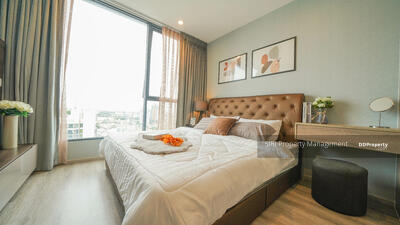 For Rent - For rent, Ideo Mobi Sukhumvit 66, 2 bedrooms, high floor, open city view, wide balcony, proportional, new room with outstanding decoration. Washing machine, refrigerator, furniture + full electric