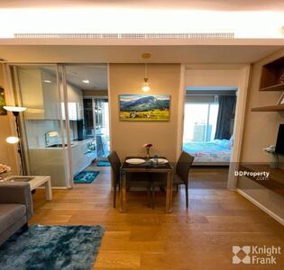 For Rent - Condo for rent at The Saint Residences. 1 bedroom and 1 bathroom with living area 30 sq. m. Fully furnished with nice decoration. #THRSPSNP0544