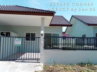 For Sale - 75074 - ขายบ้านสร้างใหม่ ทาวน์เฮ้าส์ ชั้นเดียว นาจอมเทียน สัตหีบ ชลบุรี