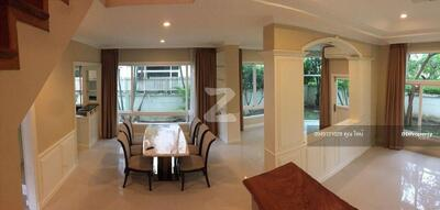 For Rent - Please inform the code KRE-B1074 Detached house, Perfect Masterpiece, near ARL Huamark, 3 bedrooms, 3 bathrooms, 243 sq m, 2 floors, rent 75, 000 baht @LINE:0949131629 Khun Tine