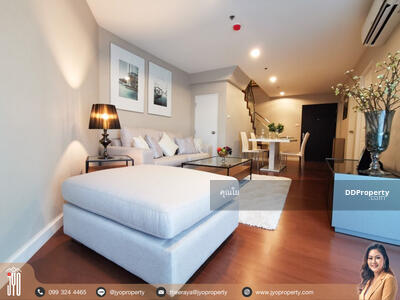 For Sale - JY-SR00030-For Sale/Rent Belle Grand Rama9 138. 46sq. m. Building C1 on P floor Duplex 3beds 3baths garden view