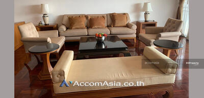 For Rent - Pet Allowed   High quality of living Apartment 4 Bedroom For Rent BTS Phrom Phong in Sukhumvit Bangkok (AA29525)