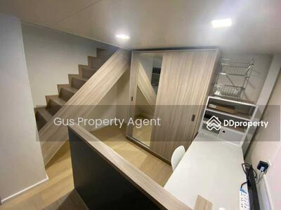 For Sale - ห้องสไตล์ duplex  ขนาด 35 ตร. ม รวมพื้นชั้นลอย  เพดานสูง 3. 6 ม.  วิวสวนมักกะสัน ไม่บล๊อควิว