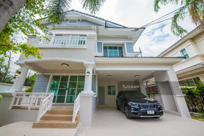 For Sale - House for sale in Nanthawan project. Pinklao-Sathorn (Land and House) on Ratchaphruek Road