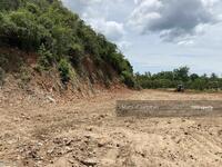 ขาย - Land walled by the mountain at the back, along the highway to the sea.